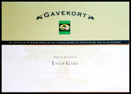 Gavekort Engø Gård