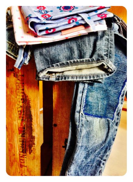 Lappeteppe av jeans